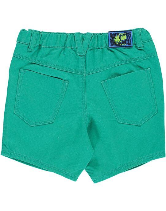 Bermuda vert bébé garçon CUDOUBER1 / 18SG10J1BER613