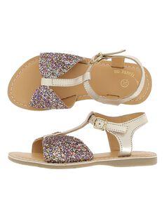 Sandale en cuir fille CFSANDBOW / 18SK35WFD0E954