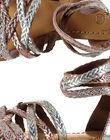Sandale ville en cuir métallisé et tressée fille FFSANDROX / 19SK35C2D0E956