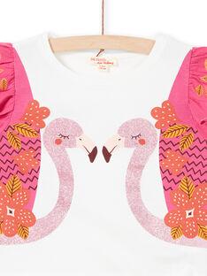 T-shirt manches courtes, imprimé flamants roses à paillettes LATERTI2 / 21S901V2TMC001