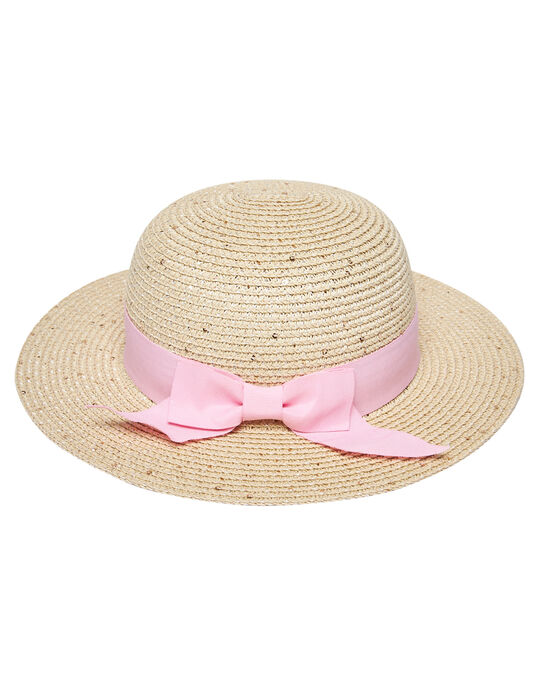 Chapeau fille avec ruban rose JYAPOEHAT2 / 20SI01G2CHA009