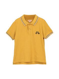 Polo jaune moutarde garçon FOJOPOL1 / 19S902Y1D2DB107