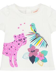 Tee-shirt manches courtes bébé fille FITUTI1 / 19SG09F1TMCA001