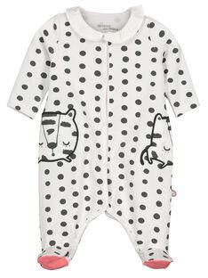 Dors-bien en coton bébé fille FOU2GRE3 / 19SF05J2GRE099