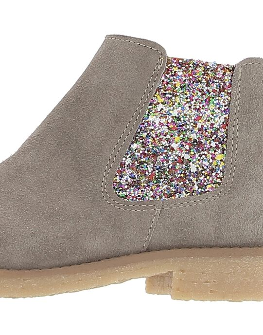 Boots en cuir fille DFBOOTGLIT / 18WK35TGD0D803