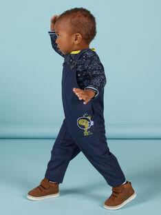 Salopette bleu foncé à motifs espace bébé garçon MUPLASAL / 21WG10O1SALC243