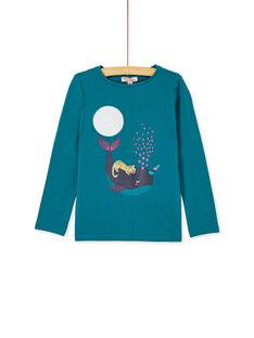 T-shirt manches longues, imprimé baleine à licorne et léopard à pailettes KAECOTEE4 / 20W901H2TMLC217