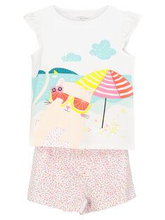 Pyjama short fille FEFAPYJCHA / 19SH11H4PYJ000