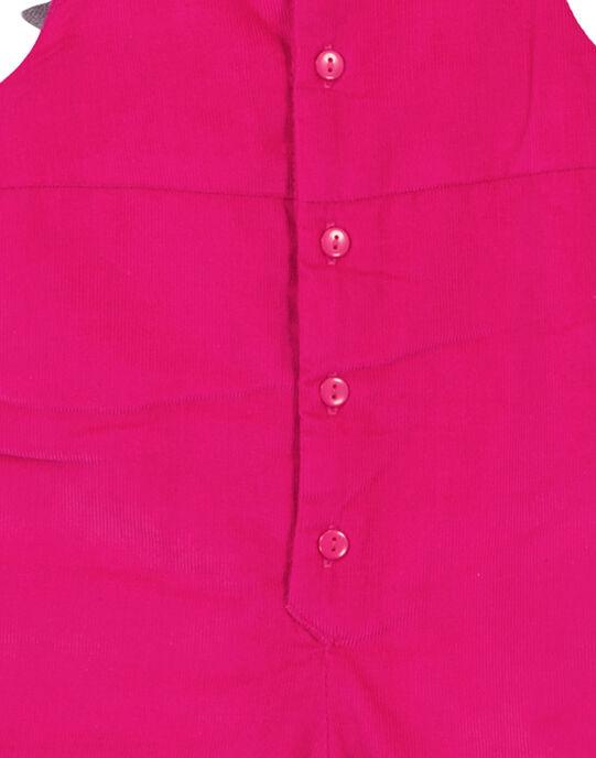 Salopette rose en velours layette fille GIVIOSAL / 19WG09R1SALD320