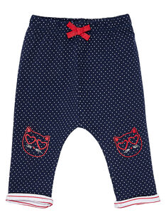 Pantalon en double jersey bébé fille JIGRAPAN / 20SG09E1PAN070