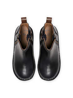 Chelsea boots bleu marine en cuir enfant garçon MOBOOTCHELSEA / 21XK3671D0D070