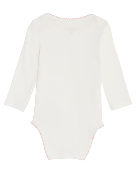 Body manches longues layette fille motif animaux KEFIBODMAUX / 20WH1395BDL001