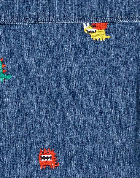 Chemise en jean manches longues enfant garçon. KORECHEM / 20W902G1CHMP274
