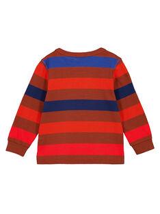 Tshirt Rayé Multico Fond Marron GOSANTEE1 / 19W902C4TML817