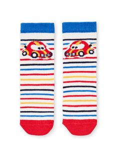 Chaussettes à rayures motifs voitures bébé garçon LYUHACHO1 / 21SI10X1SOQ001