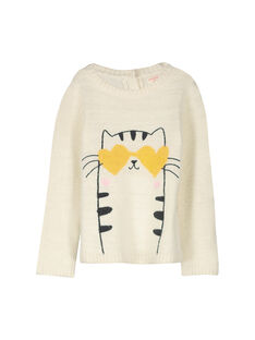 Pull en tricot fantaisie fille FALIPULL / 19S90121PUL001