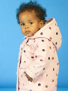 Imperméable rose à pois dorés bébé fille MIGOIMP / 21WG0951IMPD332