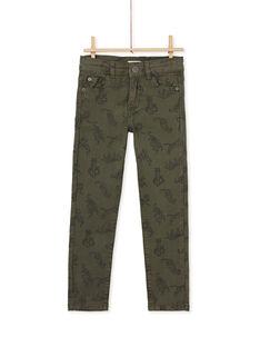 Pantalon imprimé kaki enfant garçcon KOBRIPAN / 20W902F1PAN628
