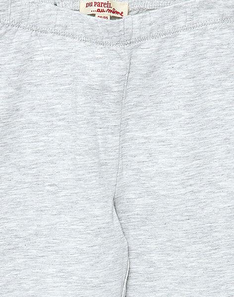 Legging fille gris clair JYAESLEG4 / 20SI0164D26943