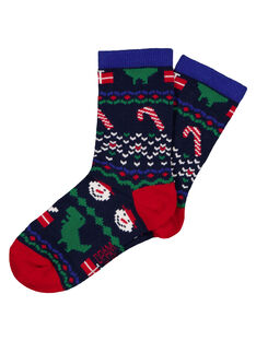 Chaussette à motif dinosaures de Noël.  GYONOCHO / 19WI02V1SOQ705