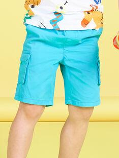Bermuda cargo bleu turquoise enfant garçon JOMARBER4 / 20S902P3BERC242