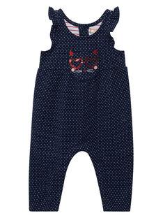 Salopette en double jersey bébé fille JIGRASAL / 20SG09E1SAL070