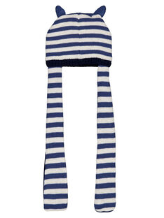 Bonnet écharpe à rayures  GYUTRIBON / 19WI10J1BONC221
