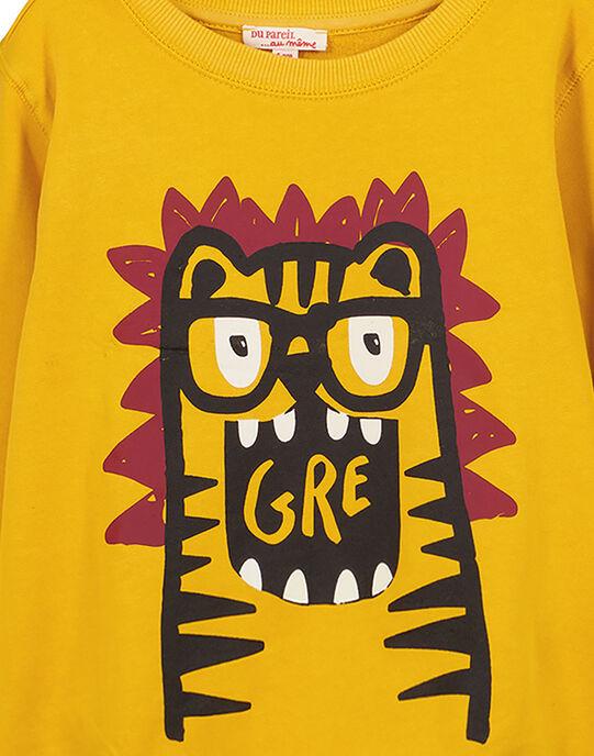 Sweat Shirt Léger col rond Ocre GOJOSWE4 / 19W90244SWBB116