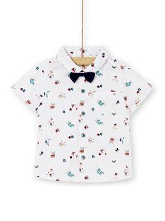 Chemise blanche avec nœud papillon bébé garçon KUNOCHEMEX / 20WG10Q2CHM001
