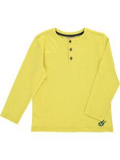 Tee-shirt manches longues col tunisien garçon DOJOTUN2 / 18W90235D32605