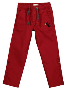 Pantalon Rouge Retroussable GOVEPAN / 19W90221PANF508