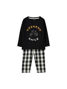 Pyjama en molleton garçon FEGOPYJCAR / 19SH1246PYJ090