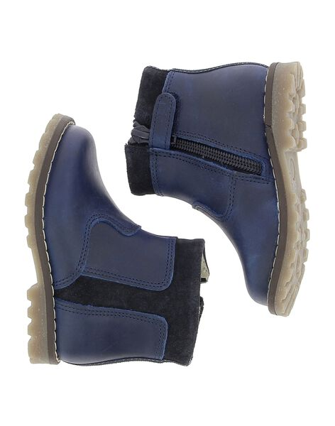 Boots en cuir bébé garçon DBGBOOTJO / 18WK38T3D0D070