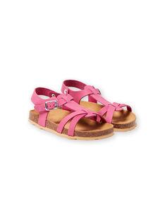 Sandales roses enfant fille LFNUROSE / 21KK355SD0E030