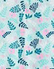 Grenouillère courte bébé fille turquoise imprimée jungle JEFIGREPHA / 20SH13U1GRE219