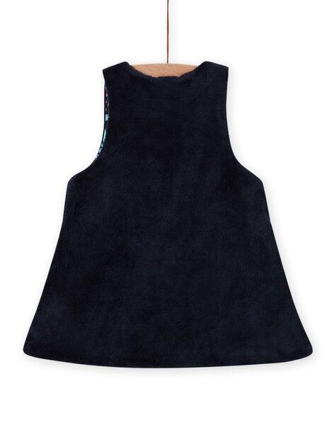 Robe réversible sans manches imprimé fleuri bébé fille MIPLAROB3 / 21WG09O1ROBC202