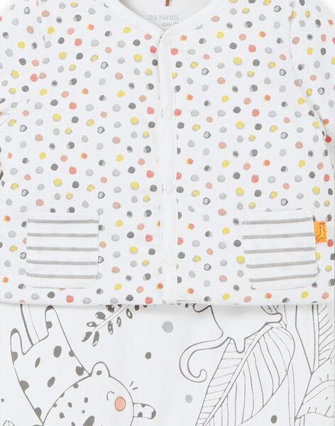 Ensemble gilet et salopette imprimé  naissance mixte LOU1ENS6 / 21SF05H2ENS000