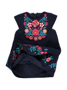 Robe en drap de laine bébé fille DITRIROB4 / 18WG09D3ROBC205