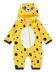 Surpyjama bébé garçon en molleton fourré motif léopard LEFUCOMLEO / 21SH1411SPY106