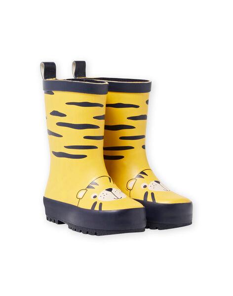 Bottes de pluie jaune motif tigre bébé garçon MUPLUITIGRE / 21XK3813D0C010