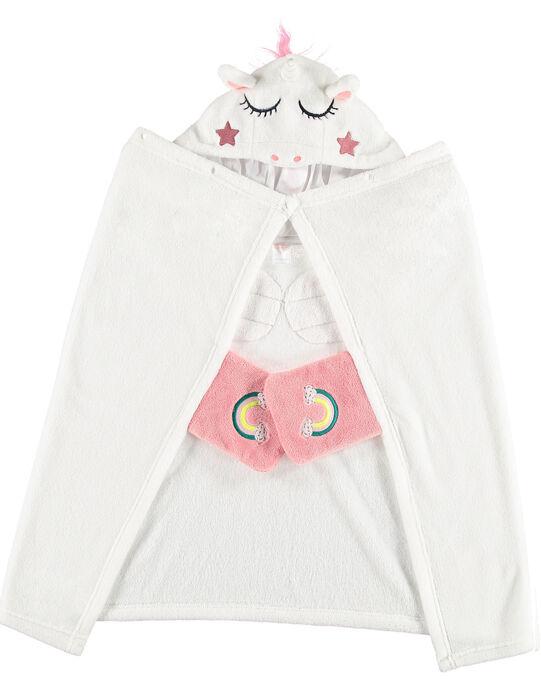 Cape licorne enfant fille en soft boa  JEFACAP / 20SH11C2CPE001