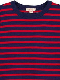 T-shirt Manches longues Marine rayé grenat GOJOTIRIB4 / 19W90241D32F518