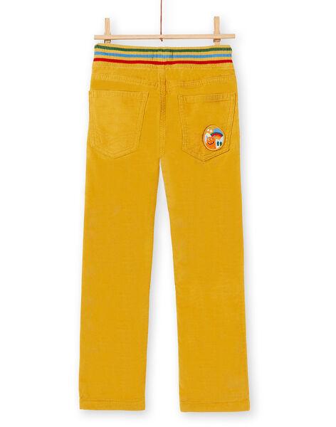 Pantalon garçon en velours moutarde KOLUPAN2 / 20W902P2PAN104