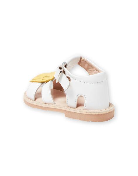 Sandales blanches bébé fille LBFSANDALMA / 21KK3752D0E000