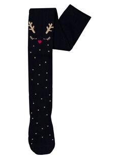Collant coton avec motif renne. GYANOCOL1 / 19WI01V2COL070