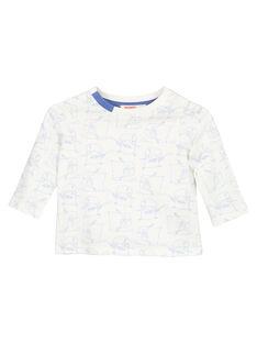 Tee shirt manches longues en jersey bébé garçon GUBLATEE2 / 19WG10S2TML001