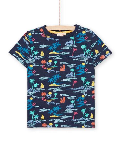 Tee Shirt Manches Courtes Bleu marine LOBONTI3 / 21S902W6TMC705