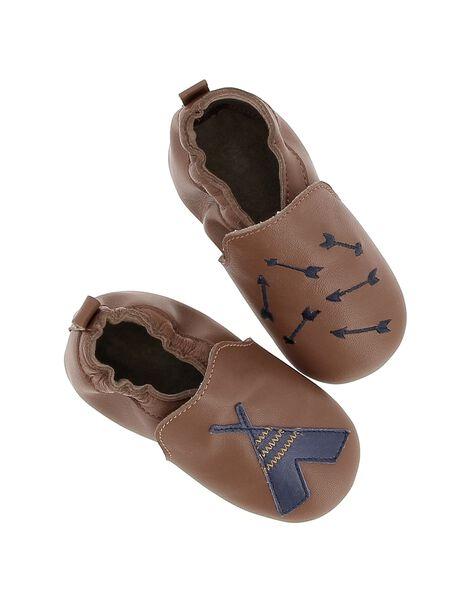 Chausson en cuir bébé garçon DNGINDI / 18WK47W6D3S804