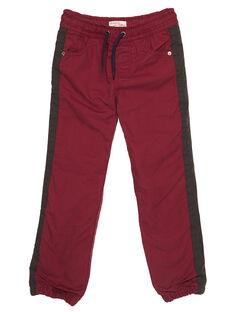 Pantalon doublé rouge GOBRUPAN1 / 19W902K2PAN511
