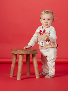 Sweat beige bébé garçon double fausse fourrure KUNOSWE / 20WG10Q1SWEI817